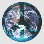 Weltfrieden Runde Sticker
