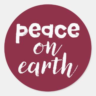 Weltfrieden Runder Aufkleber