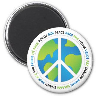 Weltfrieden Runder Magnet 5,1 Cm