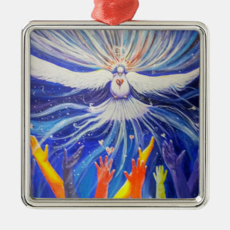 Weltfrieden Silbernes Ornament