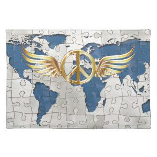 Weltfrieden Stofftischset