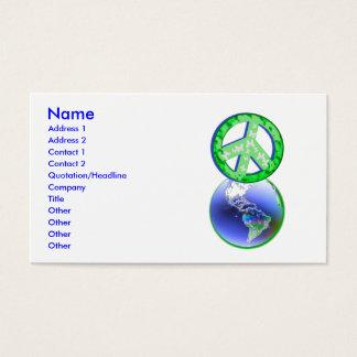 Weltfrieden-Tag - Geschäft Visitenkarten