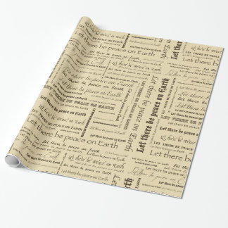Weltfrieden-Typografie Geschenkpapierrolle