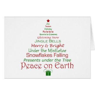 Weltfrieden-Weihnachtsbaum-Karte Karte