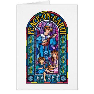 WeltfriedenPre-Raphaeliteweihnachtsanmerkungskarte Karte