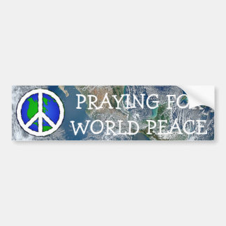 Weltfriedenserde und Friedenszeichen AUTOAUFKLEBER