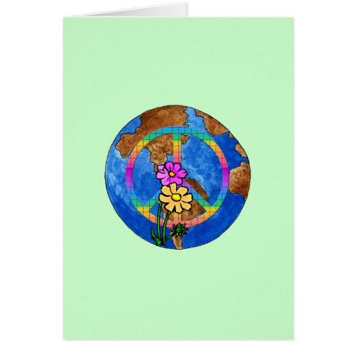Weltfriedensfarben Grußkarten