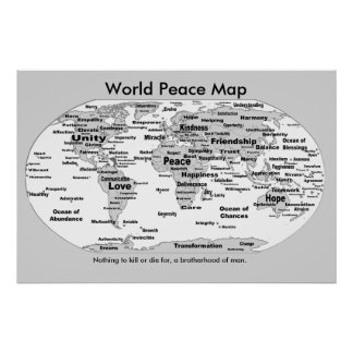 Weltfriedenskarte - nichts zu die für poster