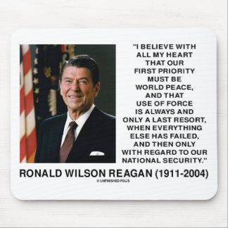 Weltfriedenskraft-Ausweg-Sicherheit Reagan Mousepad