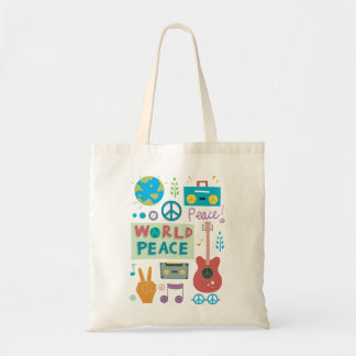 Weltfriedenssymbol-Taschen-Tasche Tragetasche