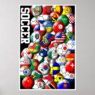 WeltFußball-Plakat Poster