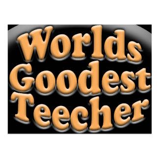 WeltGoodest Teecher lustiges Lehrer-Geschenk Postkarte