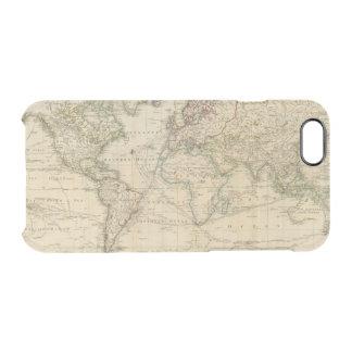 Welthandfarbige Karte Durchsichtige iPhone 6/6S Hülle