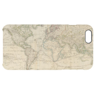 Welthandfarbige Karte Durchsichtige iPhone 6 Plus Hülle
