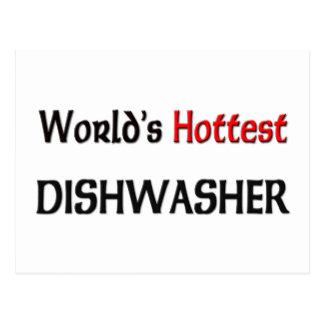 Weltheißeste Spülmaschine Postkarte