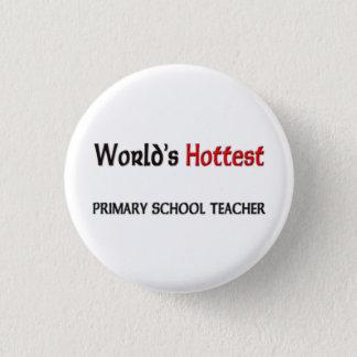 Weltheißester Grundschule-Lehrer Runder Button 2,5 Cm
