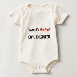 Weltheißester ziviler Ingenieur Baby Strampler