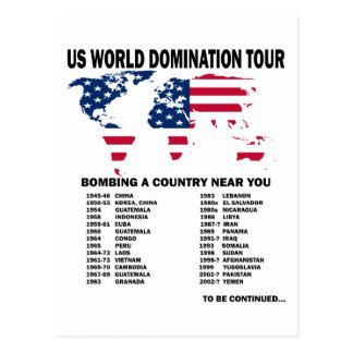 Weltherrschafts-Ausflug Postkarte