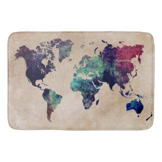 Weltkarte 10 badematten