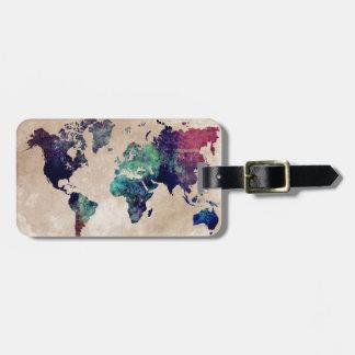 Weltkarte 10 gepäckanhänger
