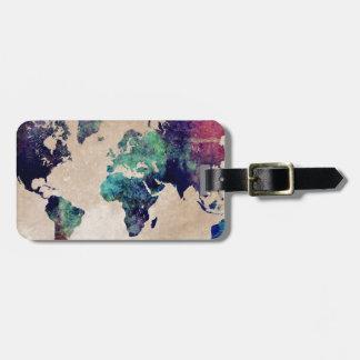 Weltkarte 10 kofferanhänger