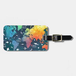 Weltkarte 12 kofferanhänger