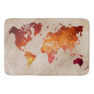 Weltkarte 13 badematten