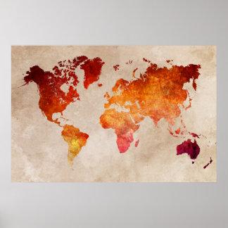 Weltkarte 13 poster