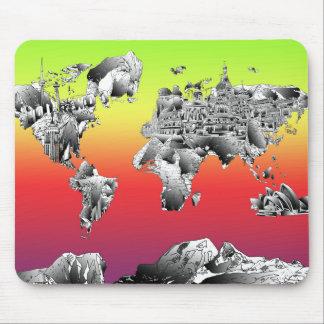 Weltkarte 4 mauspad