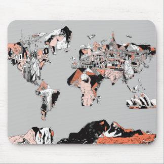 Weltkarte 5 mousepad