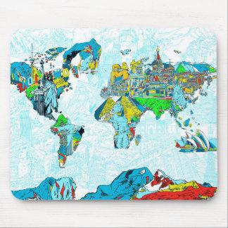 Weltkarte 6 mauspad