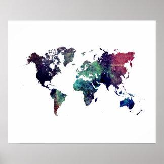 Weltkarte 6 poster