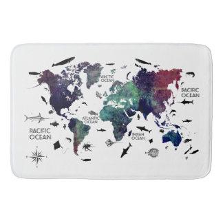 Weltkarte 7 badematten