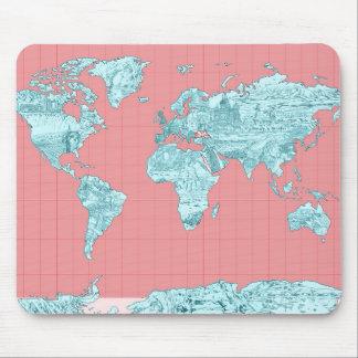 Weltkarte 7 mousepads