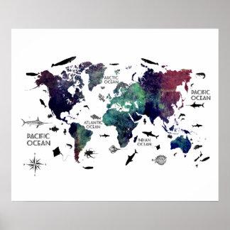 Weltkarte 7 poster