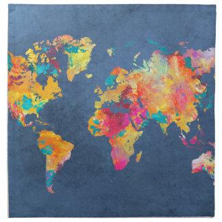 Weltkarte 8 serviette