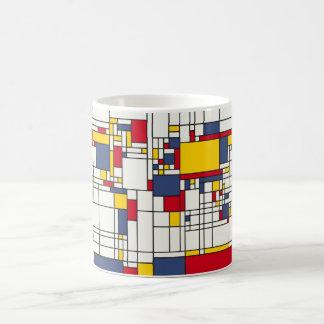 Weltkarte abstrakte Mondrian Art Kaffeetasse