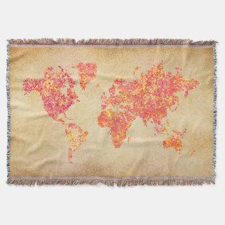Weltkarte, Aktions-Malerei Decke