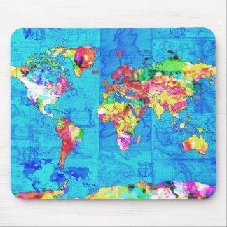 Weltkarte-Aquarell 10 Mousepads
