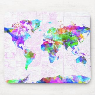 Weltkarte-Aquarell 11 Mauspad