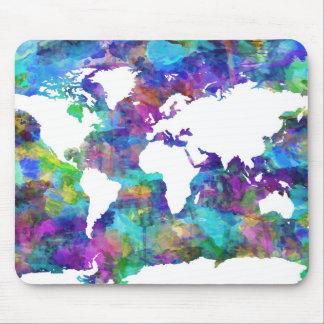 Weltkarte-Aquarell 13 Mauspad