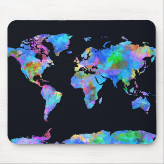 Weltkarte-Aquarell 14 Mousepads