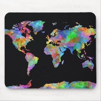 Weltkarte-Aquarell 15 Mauspads