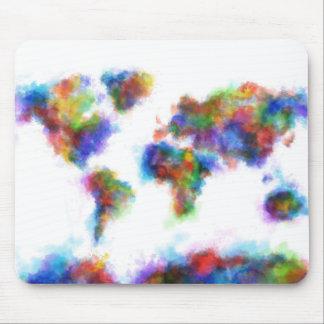 Weltkarte-Aquarell 16 Mousepads