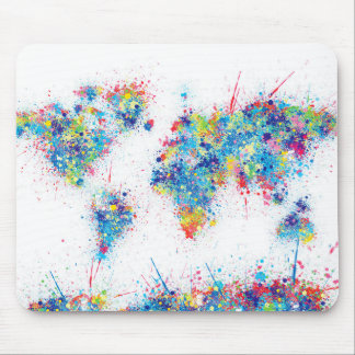 Weltkarte-Aquarell 17 Mousepad