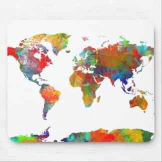 Weltkarte-Aquarell 18 Mousepads