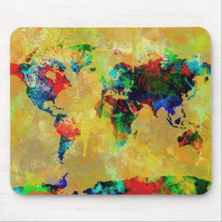 Weltkarte-Aquarell 19 Mousepad