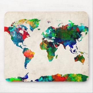 Weltkarte-Aquarell 20 Mauspads