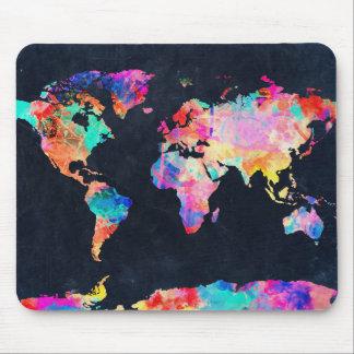 Weltkarte-Aquarell 21 Mauspad