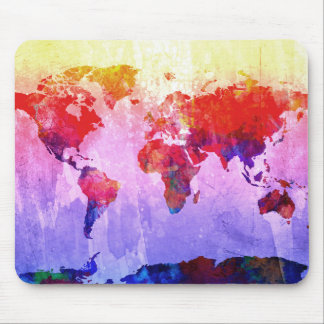 Weltkarte-Aquarell 22 Mousepads